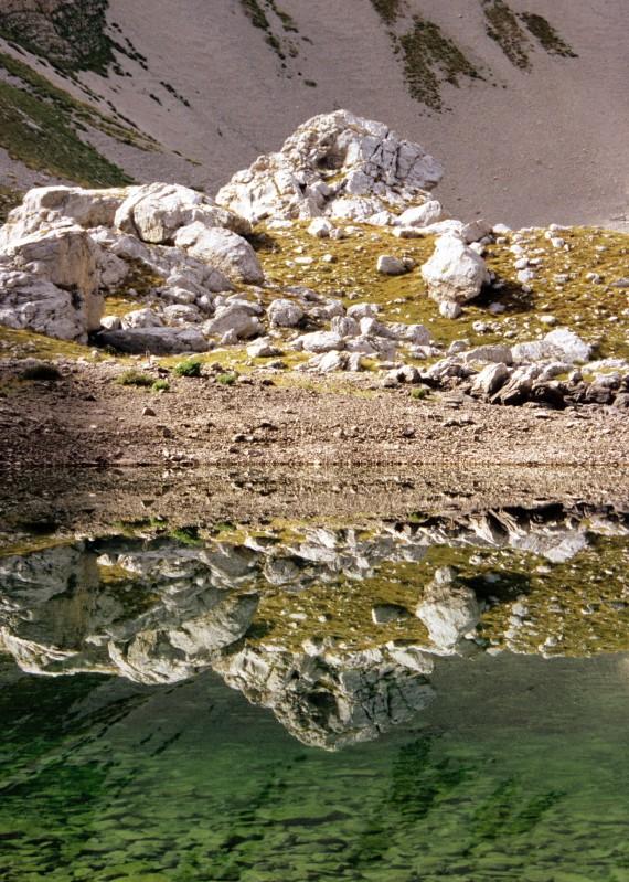 Riflesso sul lago di Pilato